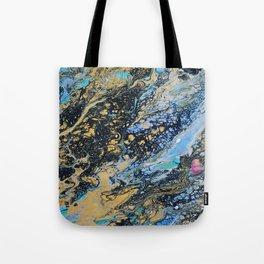 dark marble Tote Bag
