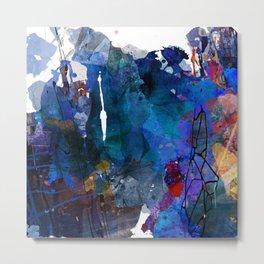 blue motion Metal Print
