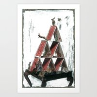 "house of cards Art Prints featuring ""House of Cards"" by kat silver"