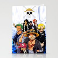 one piece Stationery Cards featuring one piece  by onlinekw