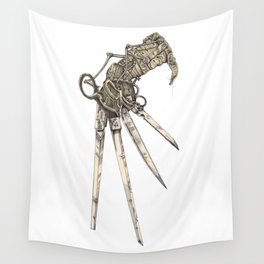 Scissorhands (Sepia-L) Wall Tapestry