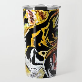 Tiger Stalking Prey Oil Painting Travel Mug