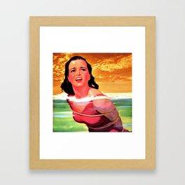 Beach Blanket Bondage Framed Art Print