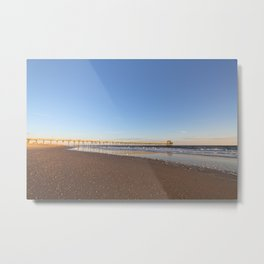 Golden Hour by the Seashore Metal Print