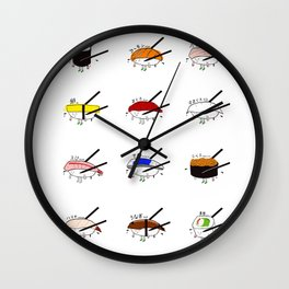 Sushi Platter Wall Clock