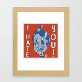 Hater Vintage Kid Framed Art Print