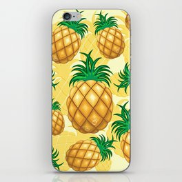 Pineapple Juicy Pattern iPhone Skin