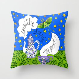 breathe, deeply, repeat ... Throw Pillow