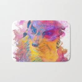 Painterly Animal -Meerkat Bath Mat