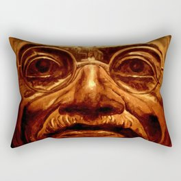 Gandhi - into the face Rectangular Pillow