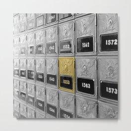 Vintage Post Office Boxes Metal Print