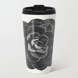 Succulent Black Marble Travel Mug