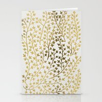 metallic Stationery Cards featuring Gold Ivy by Cat Coquillette