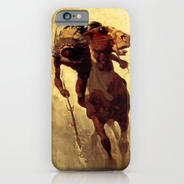 "N C Wyeth Vintage Western Painting ""Indian Lance"" iPhone Case"