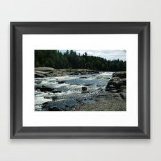 New Brunswick Rapids Framed Art Print