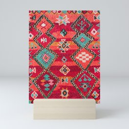 N18 - Traditional Colored Oriental Moroccan Artwork Mini Art Print