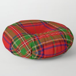 Red Tartan Plaid Floor Pillow