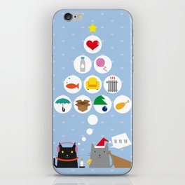 Santa Cat iPhone Skin