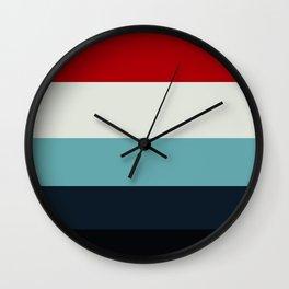 Shinjuku Red & blue Geometric Pattern Wall Clock