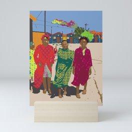 African women in township Mini Art Print