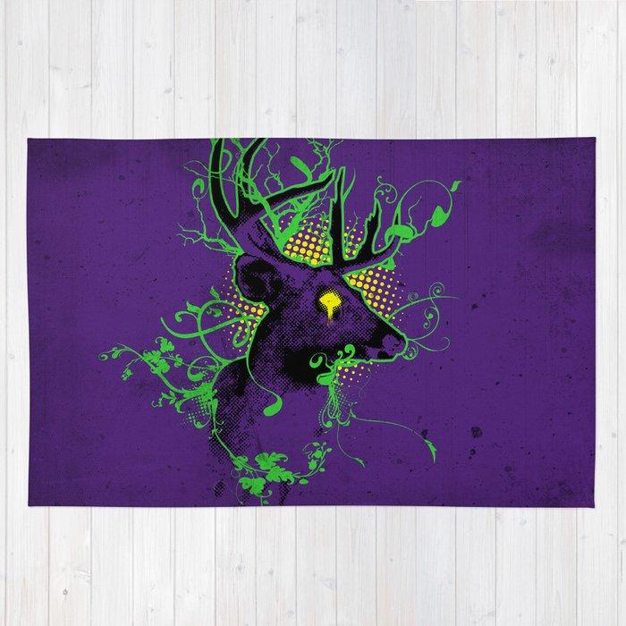 Trippy Ghost Deer Rug