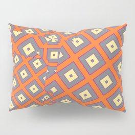 Rust & Grey Modern Art Abstract cream  Pattern Pillow Sham