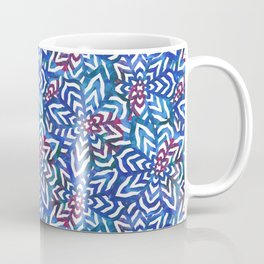 I don't need to improve - Blue and pink Coffee Mug