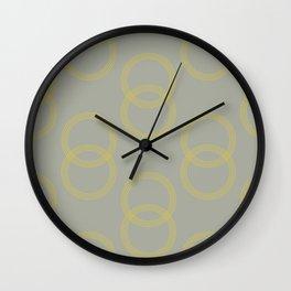 Simply Infinity Link Mod Yellow on Retro Gray Wall Clock