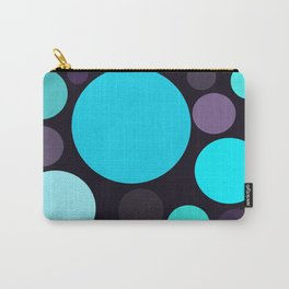 Blue and Purple Dots Carry-All Pouch