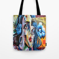 madonna Tote Bags featuring Madonna by Robin Curtiss
