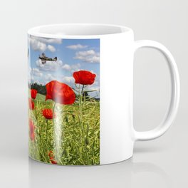 Spitfires and Poppy field Coffee Mug