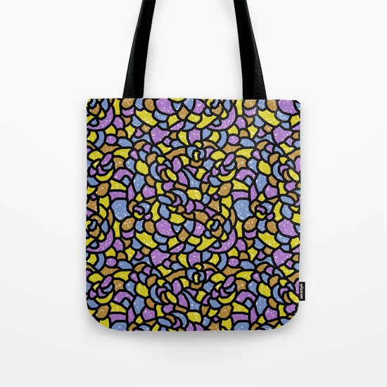 Mosaic Tiles Random Shaped Tote Bag