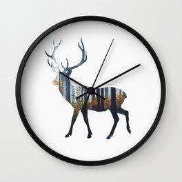 Forest deer Wall Clock