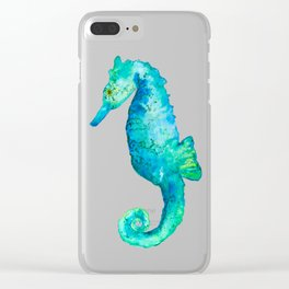Rudy the seahorse Clear iPhone Case