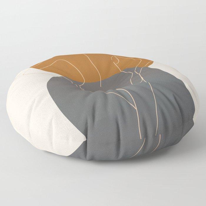 Line Female Figure 82 Floor Pillow