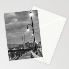 Early Winter evening St. George's Quay, Lancaster Stationery Cards
