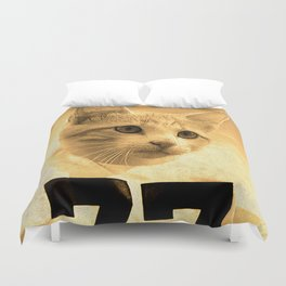 Baseball Kitten #1 Duvet Cover