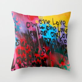 Color Me In Love Throw Pillow