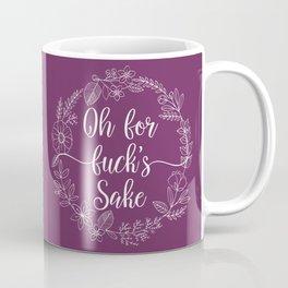 OH FOR FUCK'S SAKE - Sweary Floral Wreath (Purple) Coffee Mug