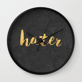 Hater Wall Clock