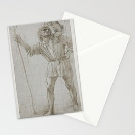 Donato Bramante - St Christopher with the Infant Jesus Stationery Cards