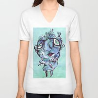 chill V-neck T-shirts featuring Chill by 5wingerone
