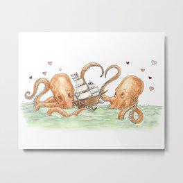 Octopus Valentine  Metal Print