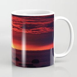 Dramatic Red Skies at Dusk Coffee Mug