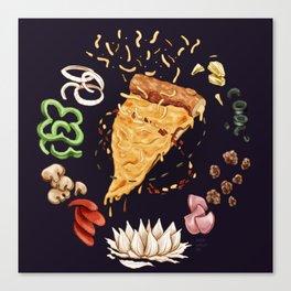 Pizza Mandala Canvas Print