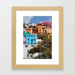 Gunajuato colorful buildings Framed Art Print