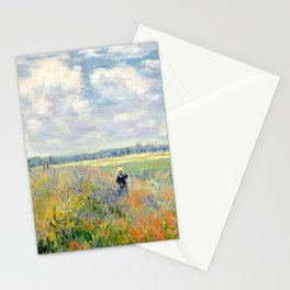 Poppy Fields near Argenteuil by Claude Monet Stationery Cards