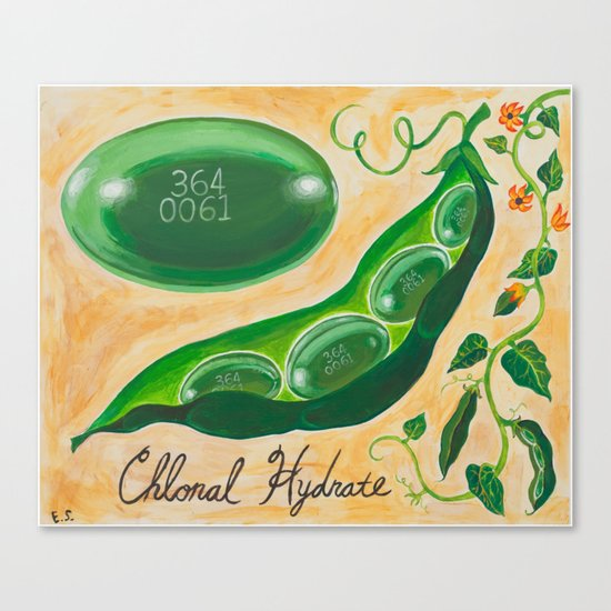 Pill Portraits 4: Chloral Hydrate Canvas Print