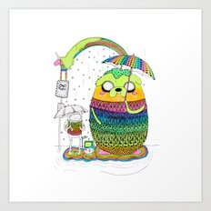 Adventure time Totoro by Luna Portnoi Art Print