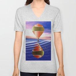 Hot Air Balloon Unisex V-Neck
